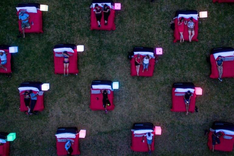 outdoor bed cinema