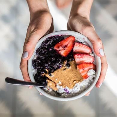 A Probiotic fuelled Coconut Kefir Bircher + Blueberry Ginger Syrup Recipe
