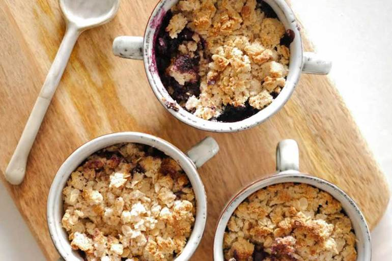 Blueberry Crumble Made With Rolled Oats