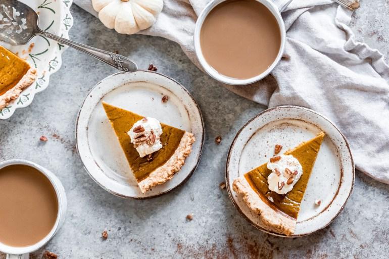 healthy pumpkin pie dessert
