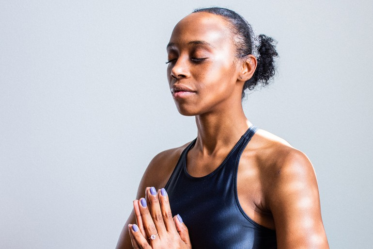 guide on meditation, woman meditating