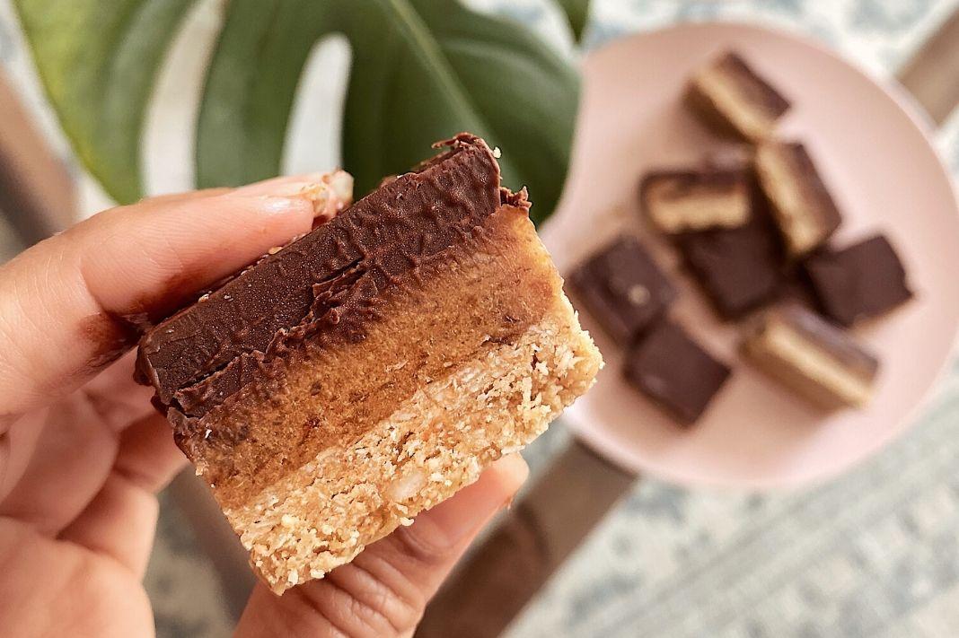 Gluten Free Raw Chocolate Caramel Slice Recipe