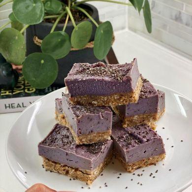 Vegan Berry Cheesecake slice