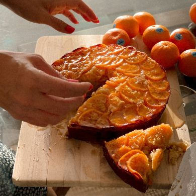upside down mandarin cake by bianca cheah
