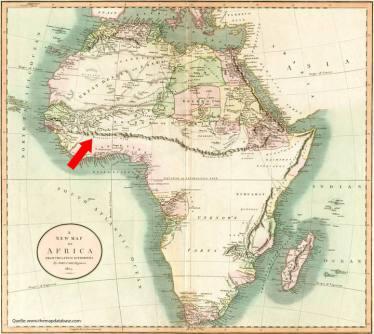 Afrika-Karte von John Cary