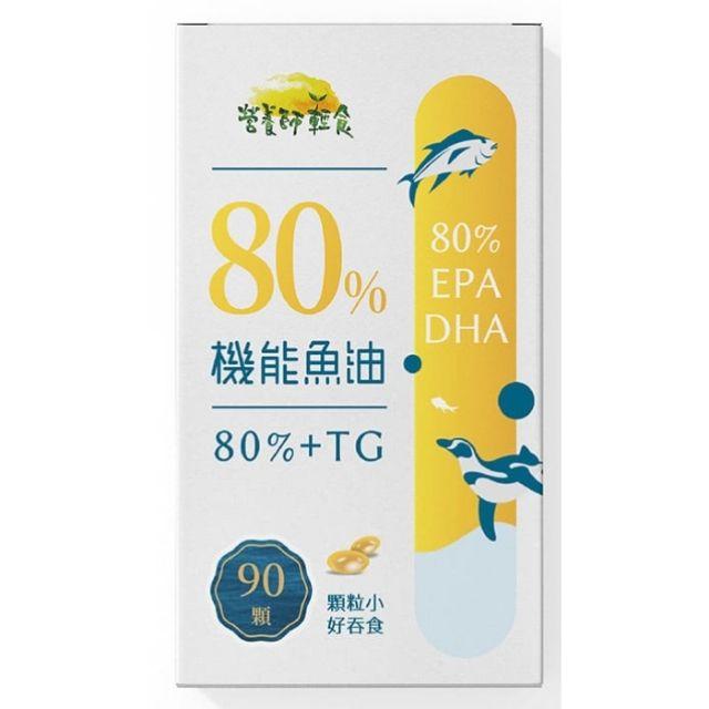 【營養師輕食】80%機能魚油