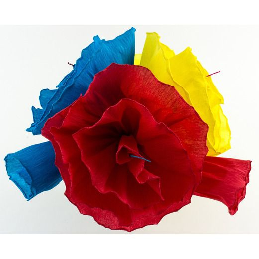 Mexican Paper Flowers   Mexican Party Supplies at Amols  Fiesta Cinco de Mayo Decorations Marisol s Flowers  3 per bunch  Image