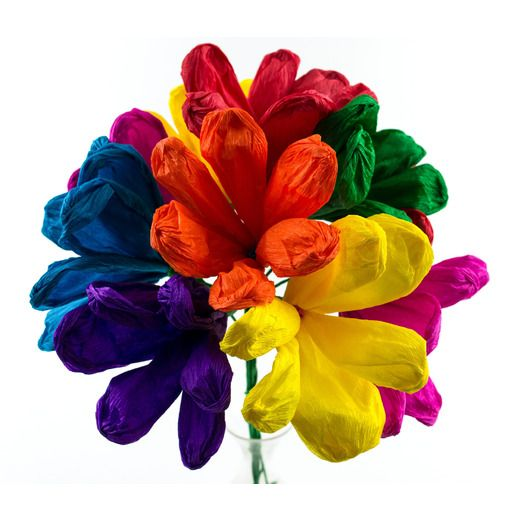 Mexican Paper Flowers   Mexican Party Supplies at Amols  Fiesta Cinco de Mayo Decorations Jumbo Terecitas Flowers Image