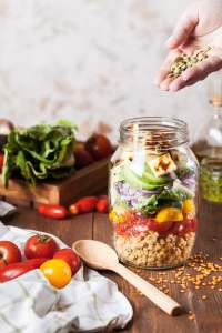 Salad in a Mason jar self-care is more than a just a day off
