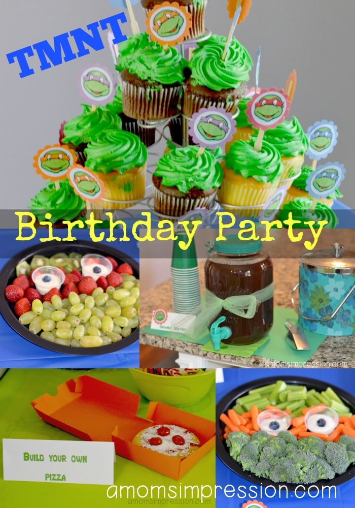 Teenage Mutant Ninja Turtles Birthday Party Part 2 The Food A Mom S Impression Recipes Crafts Entertainment And Family Travel