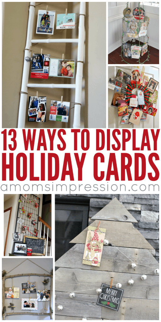 13 Stylish Ways To Display Your Holiday Cards A Moms