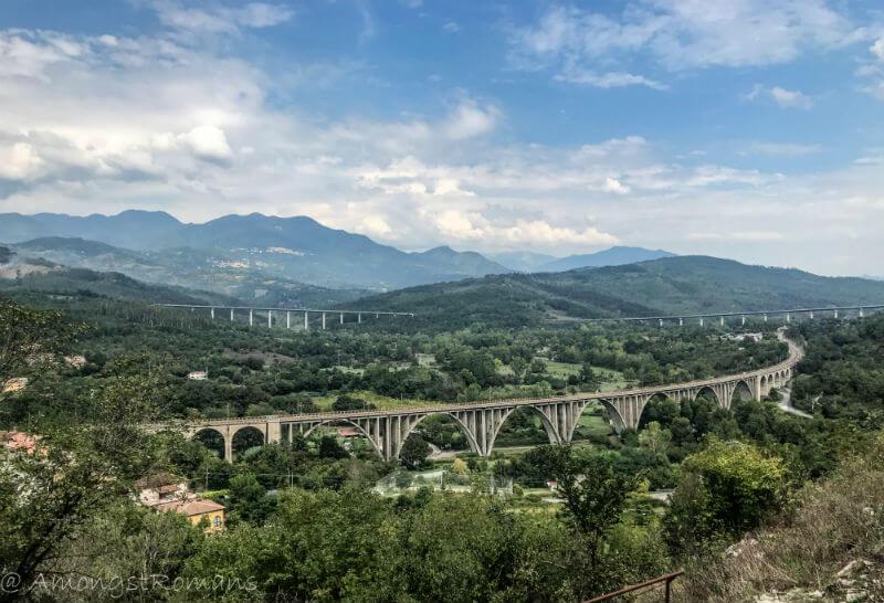 mountains and bridges