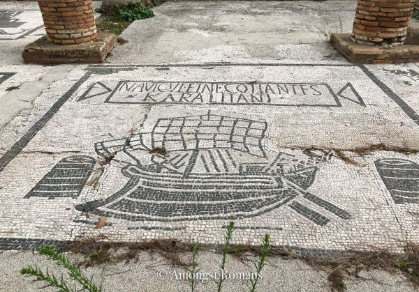 mosaic of a boat