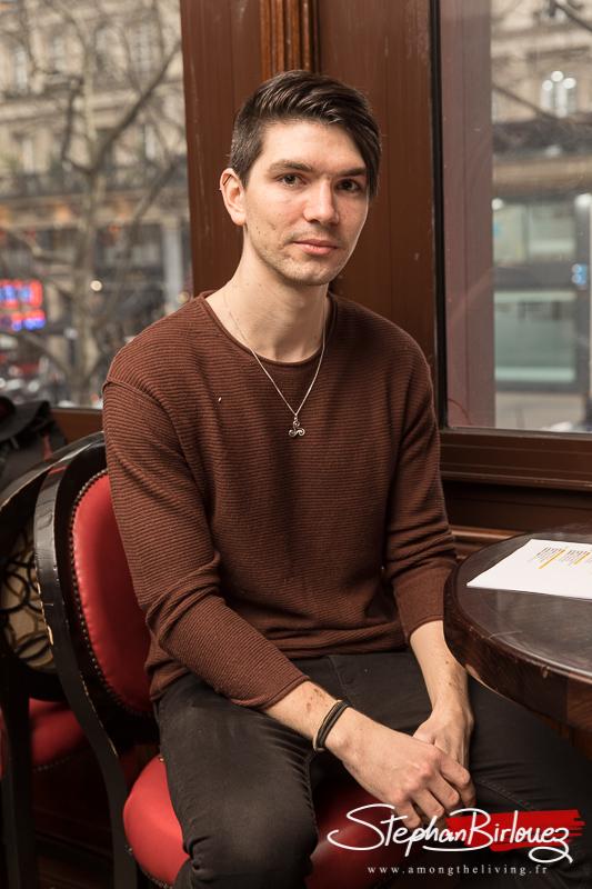 Pierre Challouet bassiste et chanteur d'INSOLVENCY