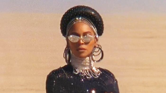 Beyonce screen shot from Black is King
