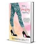 Teal Paisley Tights by Barbara Brutt