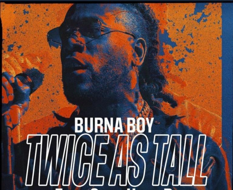 Burna Boy twice as fall official art