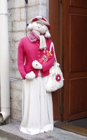In the doorway of this shop in Tallinn, you are greeted by this life-sized doll.