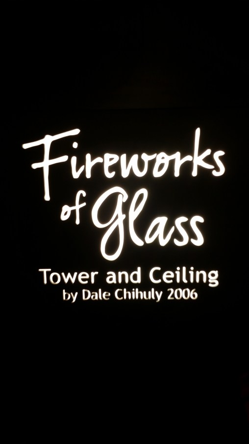 """Fireworks of Glass"" Tower and Ceiling by Dale Chihuly 2006"