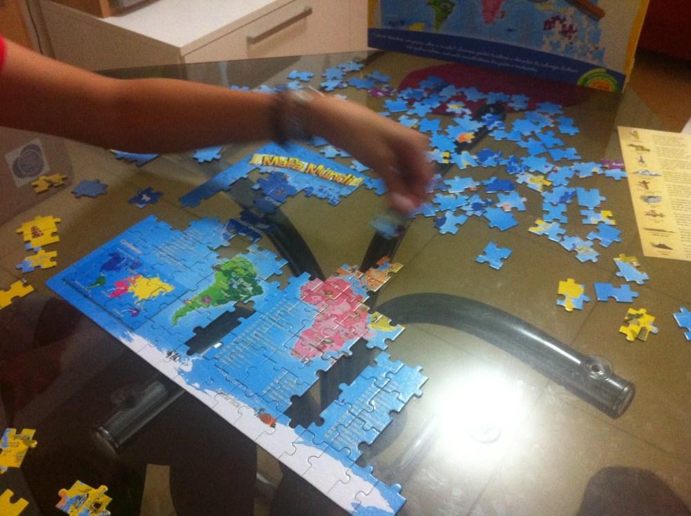 Brinquedo: Mapa Múndi - Quebra cabeça 200 peças (2/6)