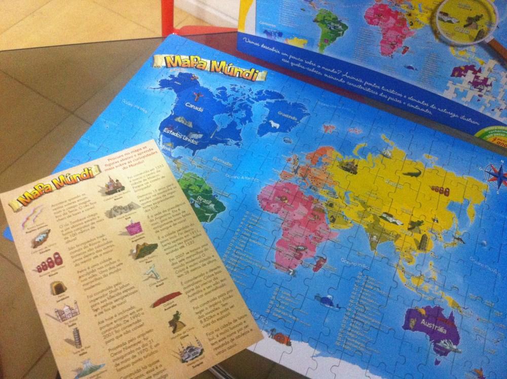 Brinquedo: Mapa Múndi - Quebra cabeça 200 peças (3/6)