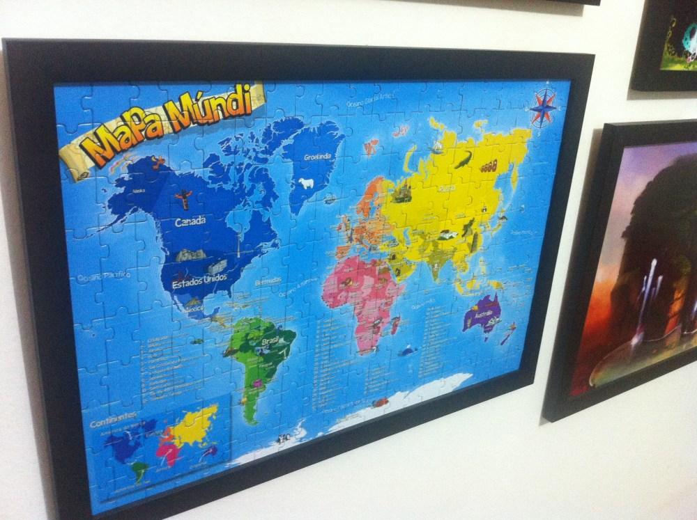 Brinquedo: Mapa Múndi - Quebra cabeça 200 peças (6/6)
