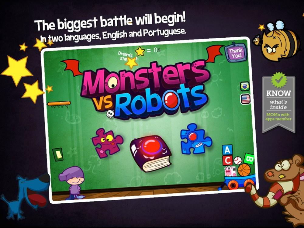 Monstros vs Robôs - Livro interativo + Games (3/6)