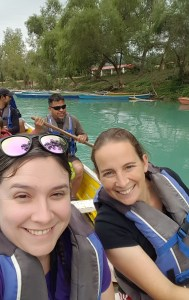 The author and her friend Heather with their families over the holidays in Central Mexico.