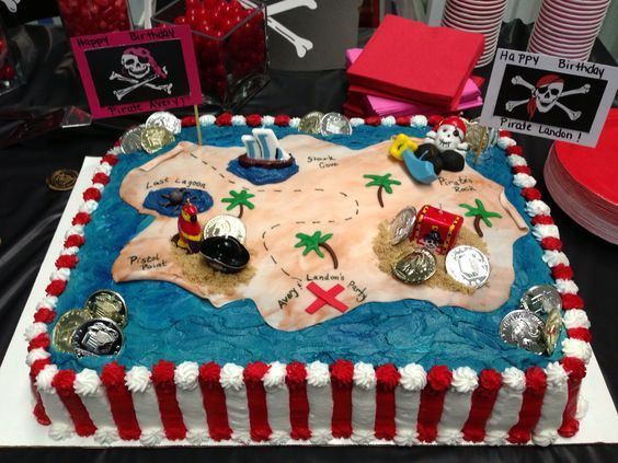 pastel isla pirata