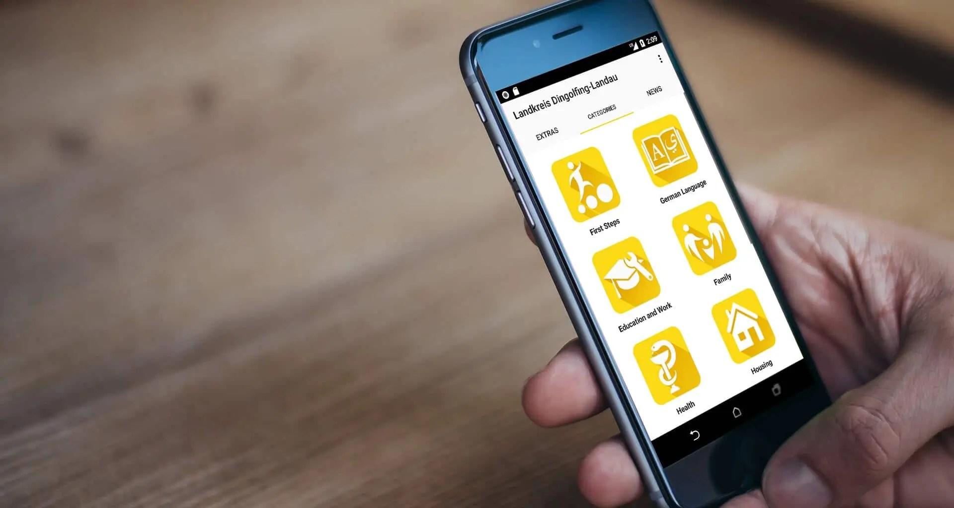 Integreat App Digitalfabrik Tür an Tür