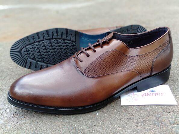 Coffee suit shoe