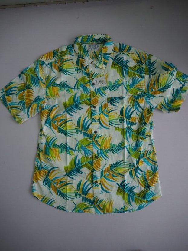 Neon Green Floral Shirt