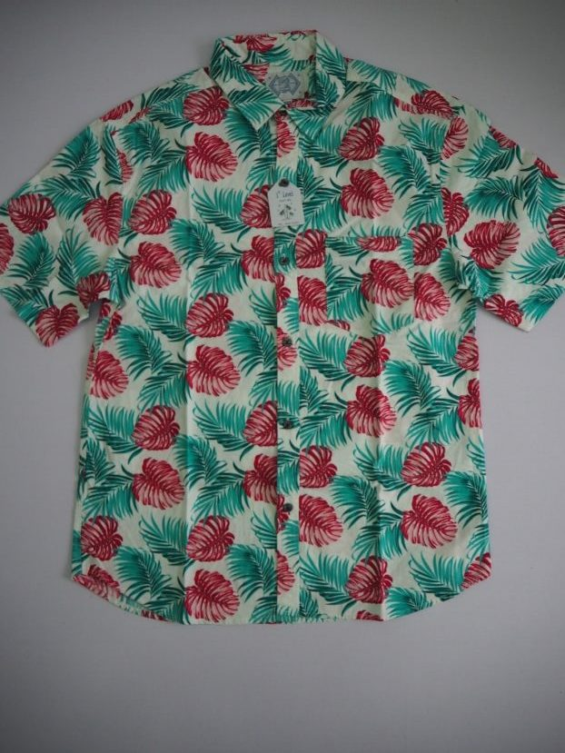 Red Green Floral Shirt