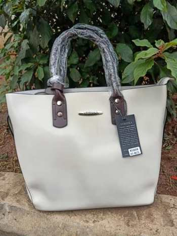 Beige brown strap bag
