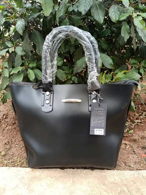 Black brown strap bag