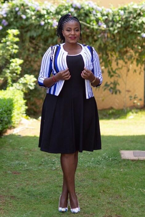 Black white dress suit