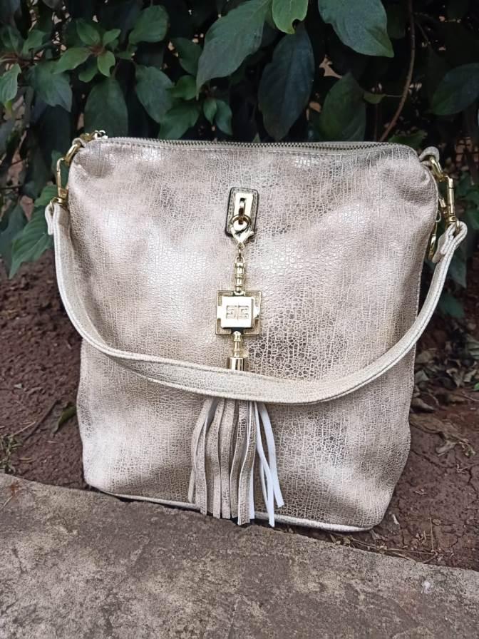 Gold side zip bag