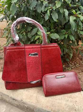 Red middle croco bag