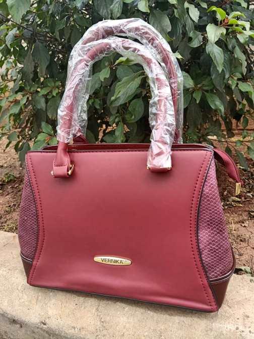Red side croco bag