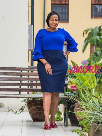 Royal and navy blue bodycon