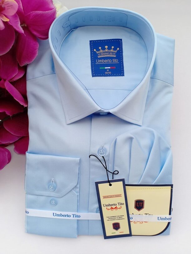 Silk blue shirt