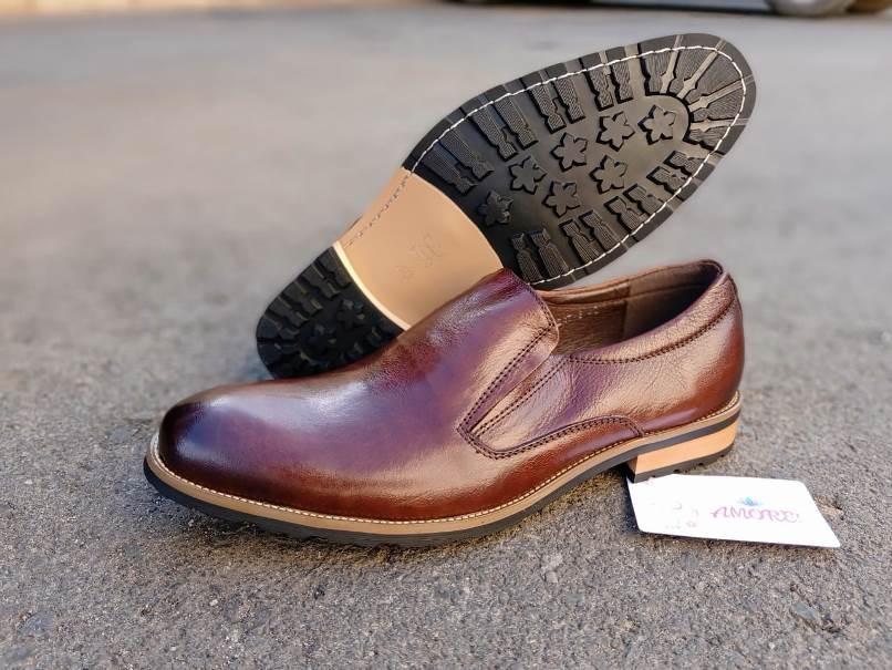 Coffee brown sole slip on