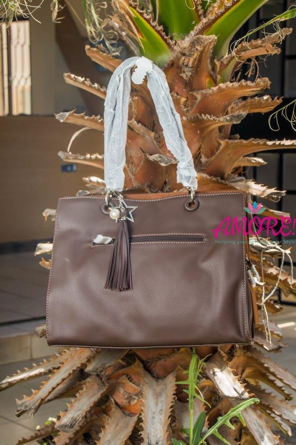 Dark brown Dvid Jones big bag