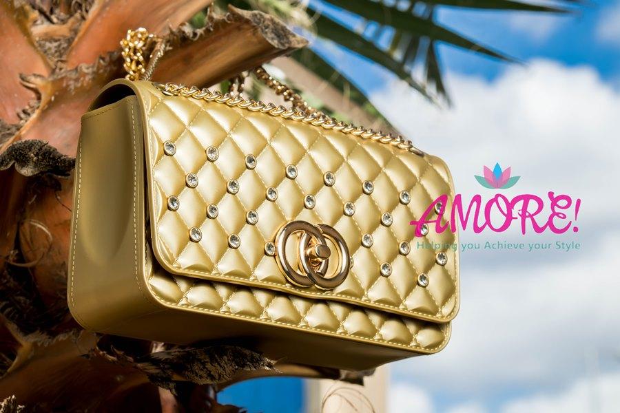 Gold party sling bag