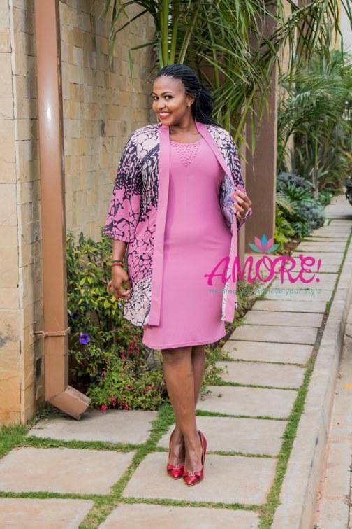 Pink Hb fashion jacket dress
