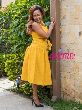 Yellow round dress