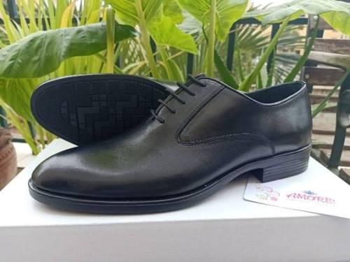 Black plain suit shoe
