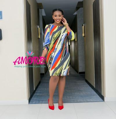 Multicolored sheath dress