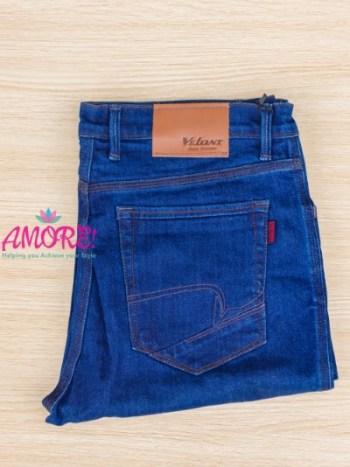 V blue jeans