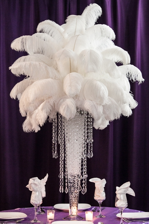 Ostrich Feather Centerpiece Rental Weddings Sweet 16 New Jersey
